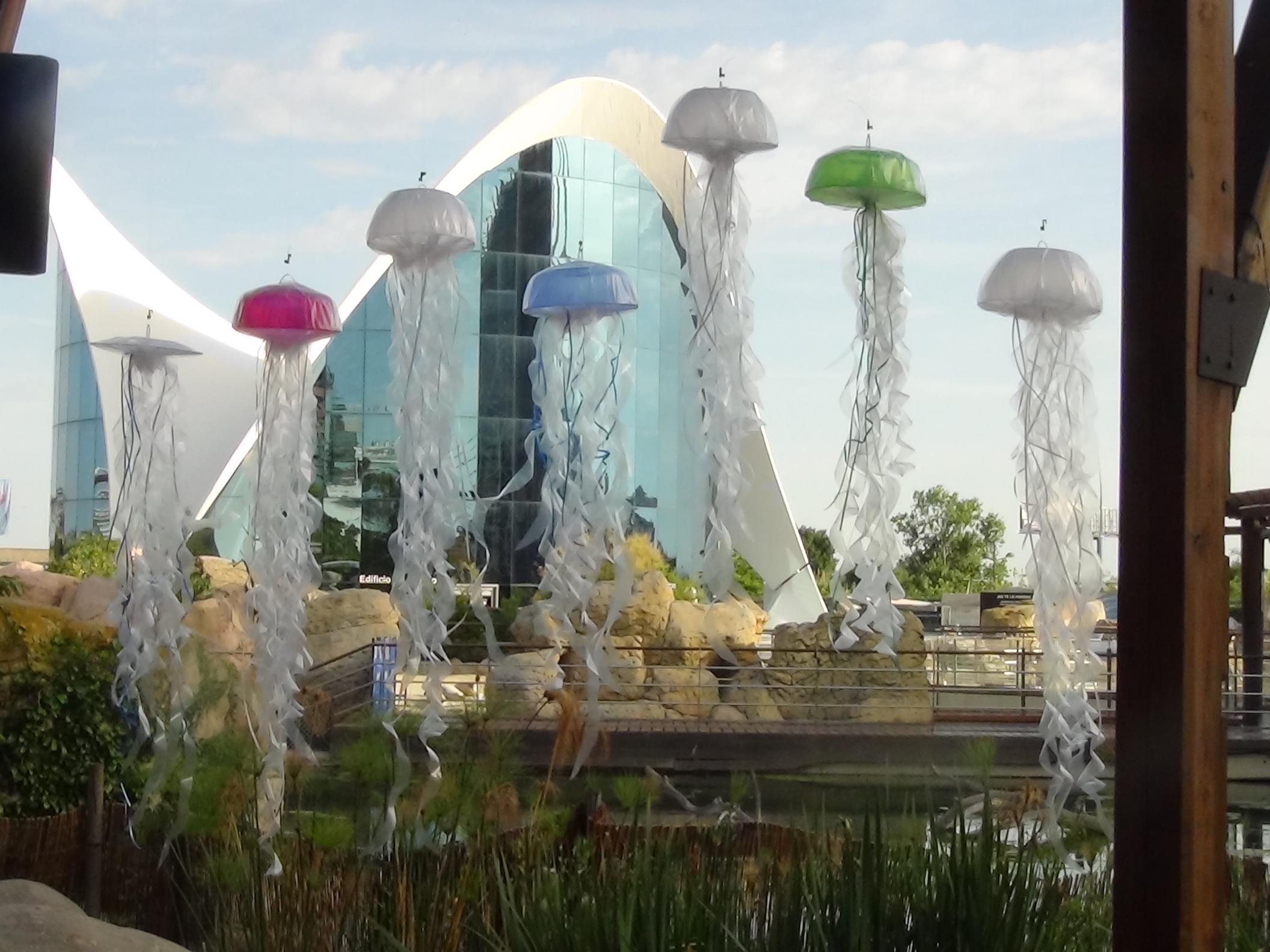 Medusas de colores. Instalación