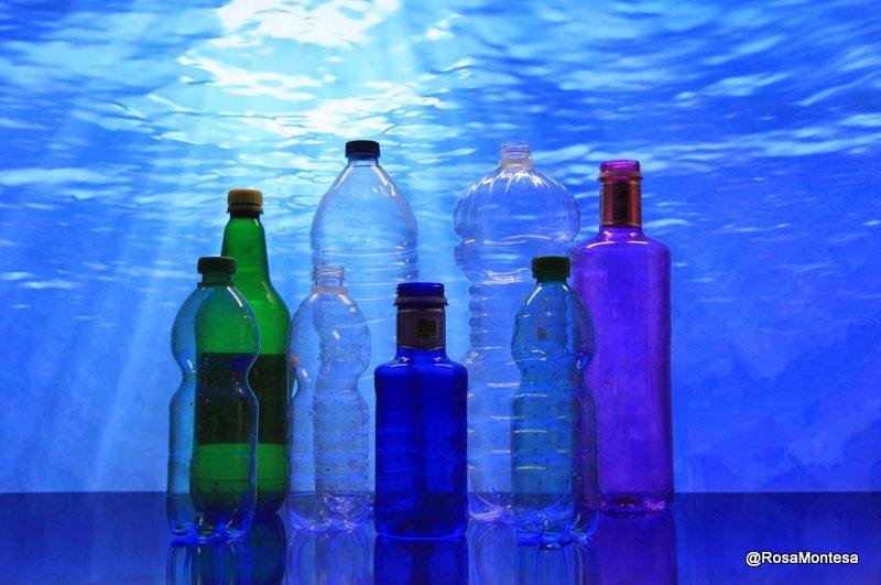 botellas de plástico rosa montesa reciclado creativo