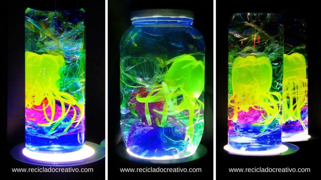 Medusas embotelladas PET