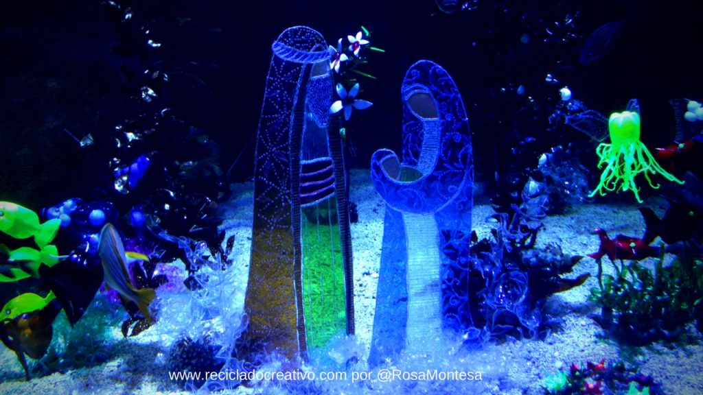 Feliz Navidad!! Belén con botellas de plástico