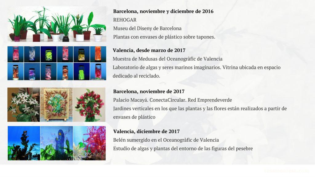 Naturaleza Plástica Rosa Montesa Reciclado Creativo