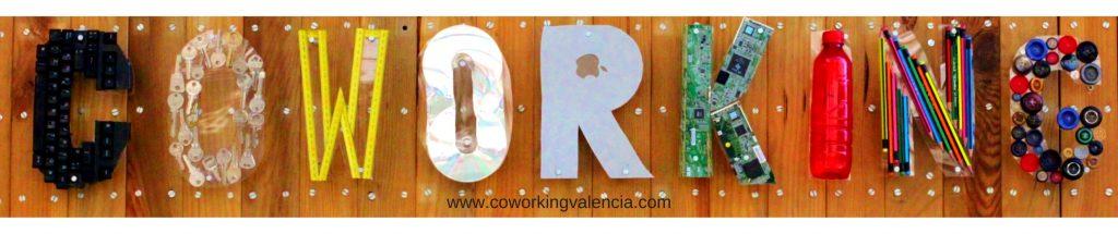 Cartel de Coworking Valencia Reciclado Creativo