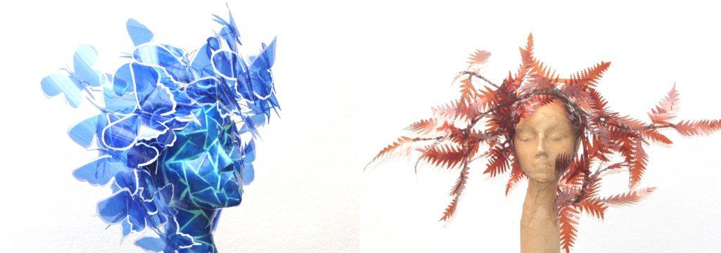 Mariposas y helechos inspirados en Manolo Valdés