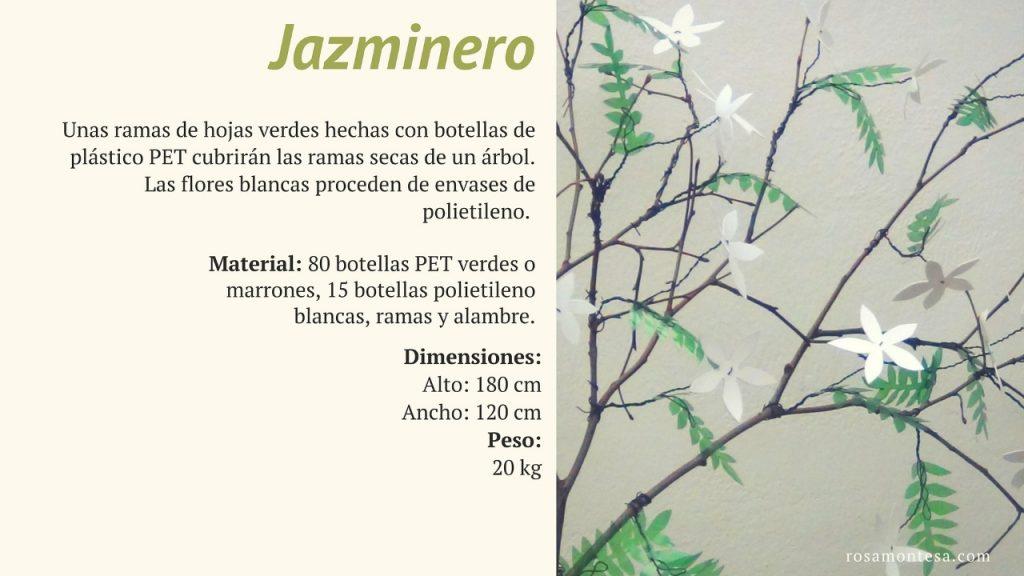Jazminero. Naturaleza Plástica por Rosa Montesa. Reciclado Creativo