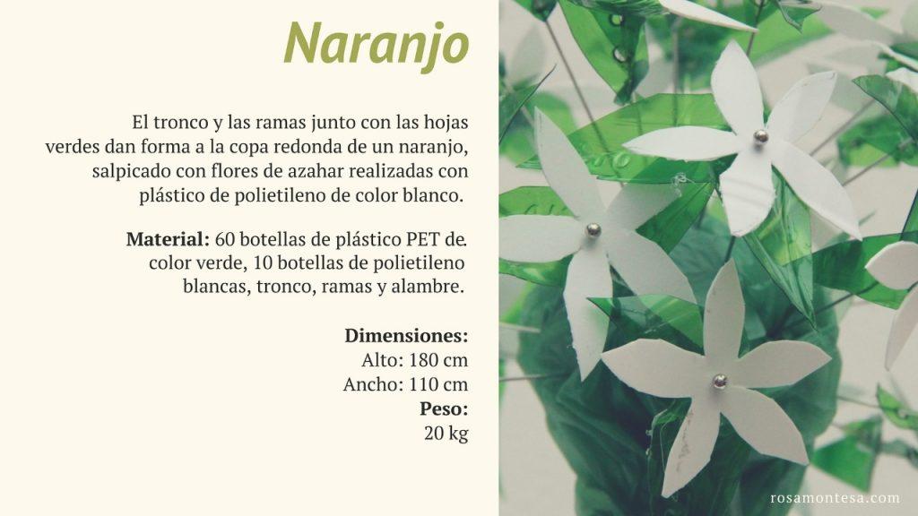 Naranjo. Naturaleza Plástica por Rosa Montesa. Reciclado Creativo