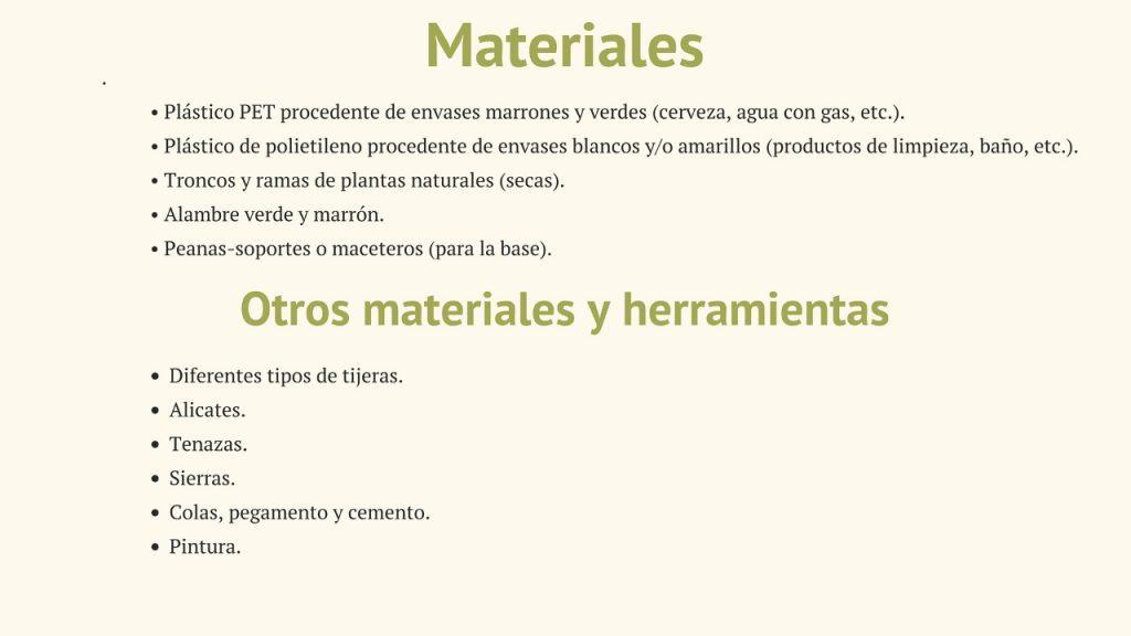 Materiales. Naturaleza_Plástica_Reciclado_Creativo_por_Rosa_Montesa