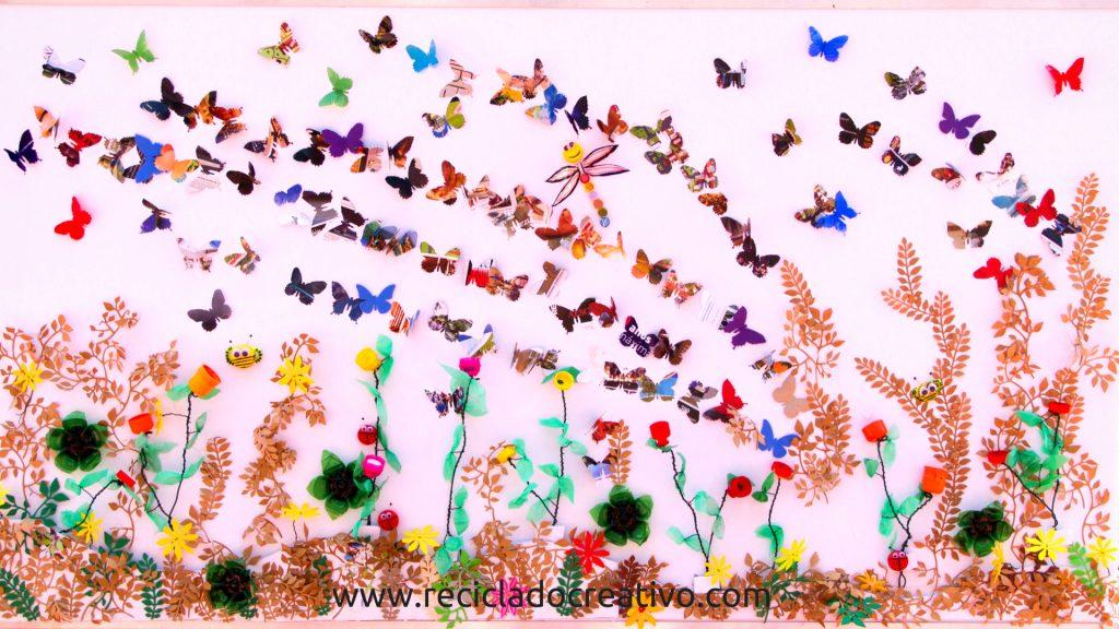 Mural #reciclajedivertido con niños