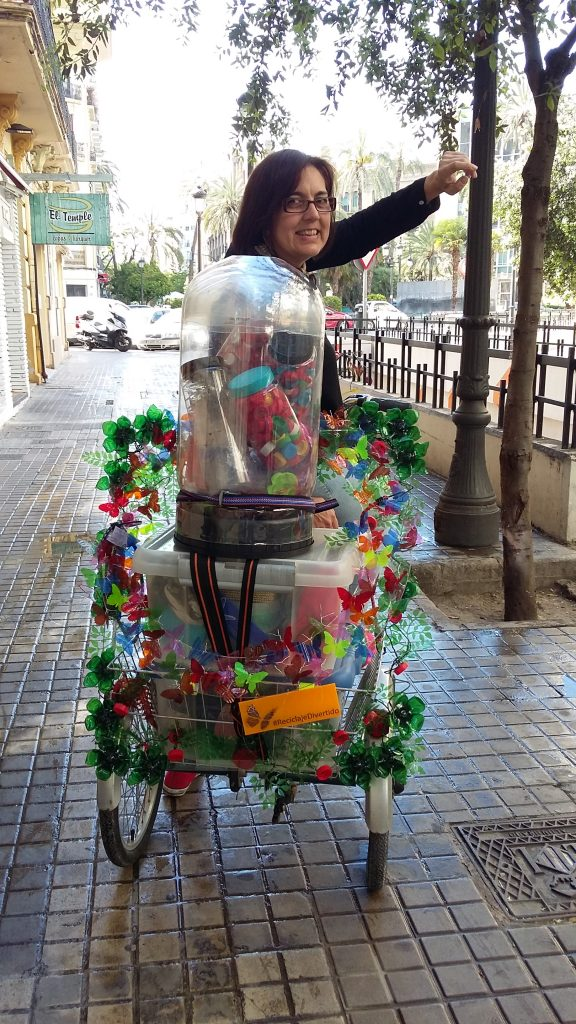 Triciclo Rosa Montesa - Talleres de #reciclajedivertido