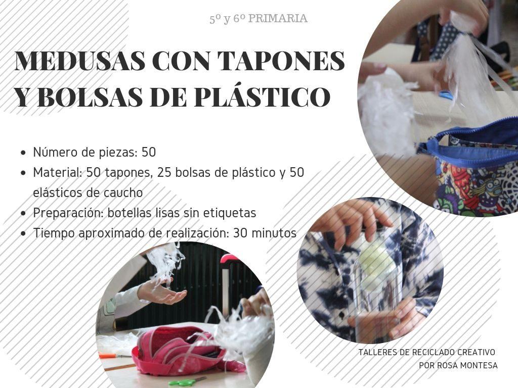 Talleres de reciclado de plástico y concienciación de la contaminación del mar. Colegio Alborxí de Alzira (Valencia)
