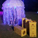 Medusa con plástico reciclado: bolsas y botellas de plástico por Rosa Montesa RecicladoCreativo. Recycled plastic bottles and bags