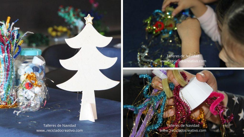 Talleres de reciclaje en Navidad