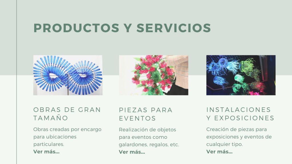 RosaMontesa_RecicladoCreativo_Productos y Servicios