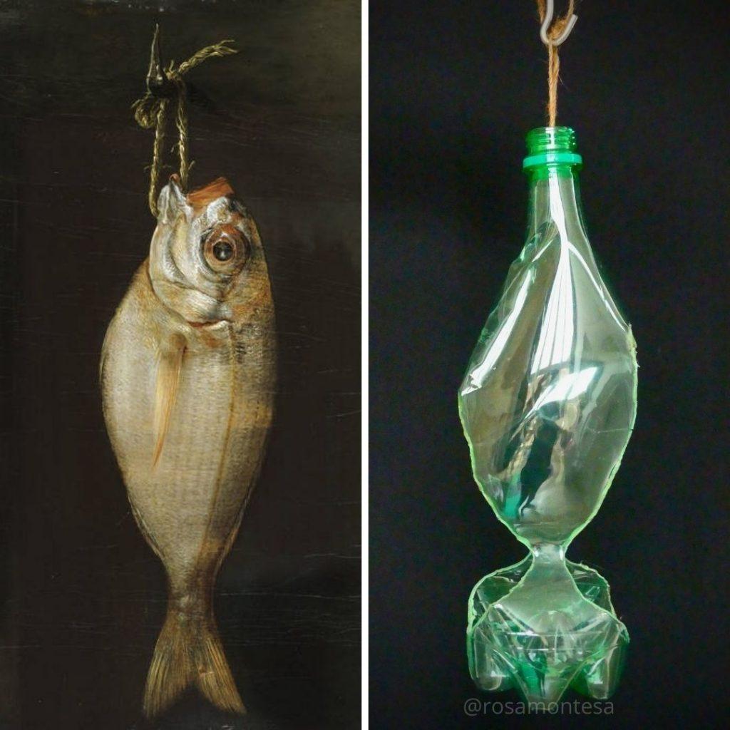 Besugo de Montalvo y Botella de plástico de Rosa Montesa
