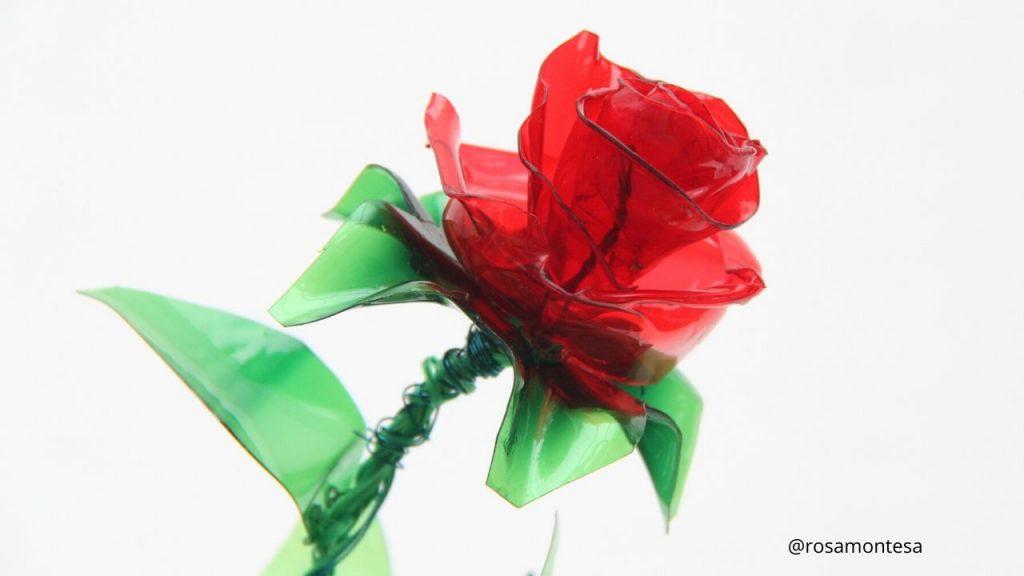 Flores con plástico reciclado