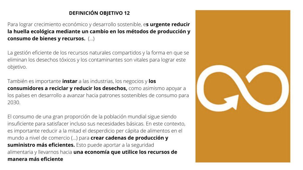 ODS12 PRODUCCIÓN Y CONSUMO RESPONSABLES