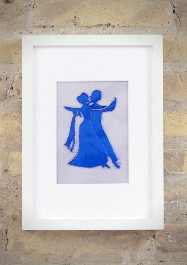 los Bailarines de tango - Rosa Montesa - Pirografiado-soldado de plástico