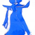 Bailarinas tango - Rosa Montesa - Pirografiado-soldado de plástico
