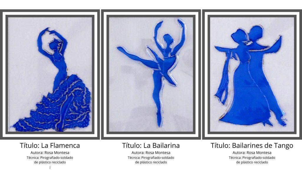 Bailarines técnicas de serigrafiado soldado de plástico Rosa Montesa