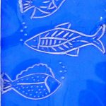 Bajo el mar - Rosa Montesa - Pirografiado-soldado de plástico