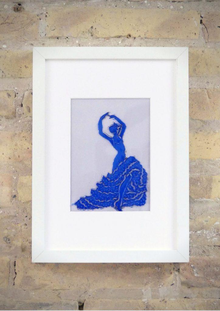 Flamenca - Rosa Montesa - Pirografiado-soldado de plástico