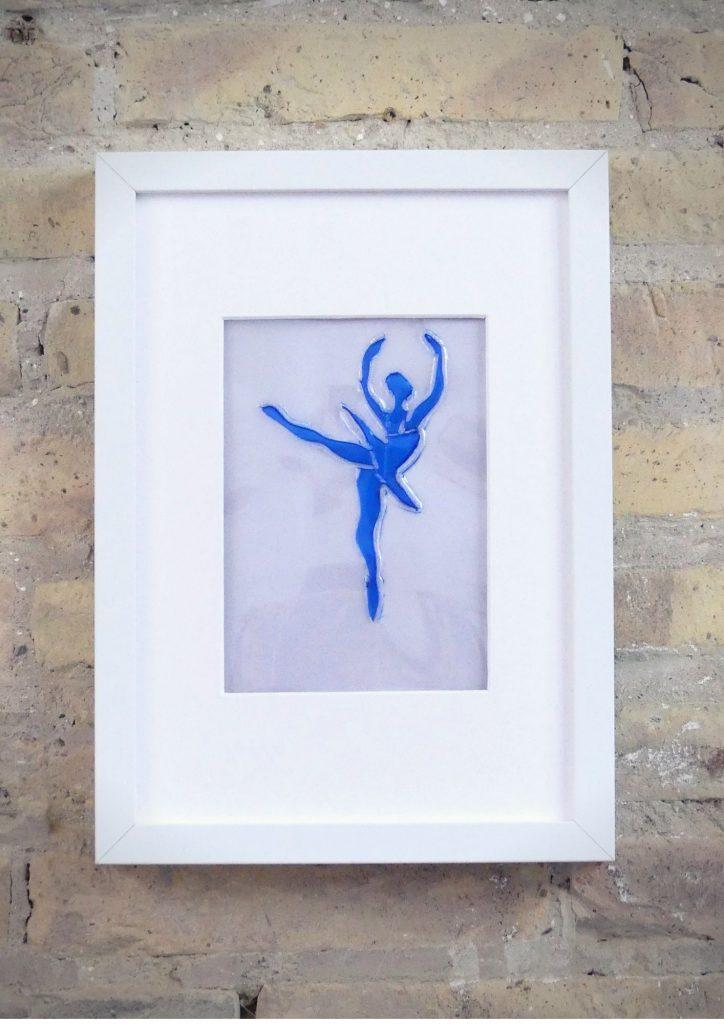 La Bailarina - Rosa Montesa - Pirografiado-soldado de plástico