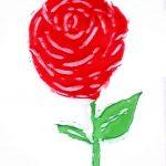 La Rosa - Rosa Montesa - Pirografiado-soldado de plástico