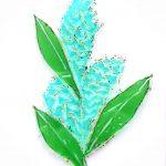Planta - Rosa Montesa - Pirografiado-soldado de plástico