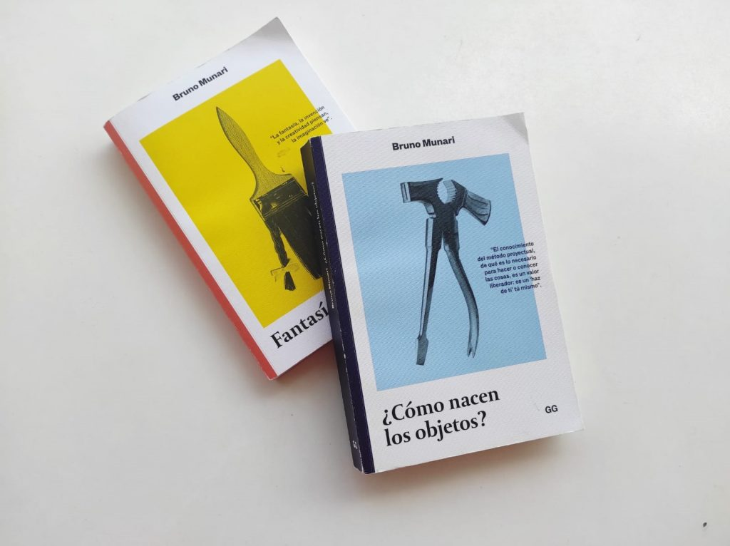 Libros Bruno Munari. Fantasía y Cómo nacen los objetos